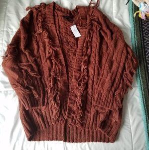 American Eagle Burnt Orange/Red/Maroon Sweater